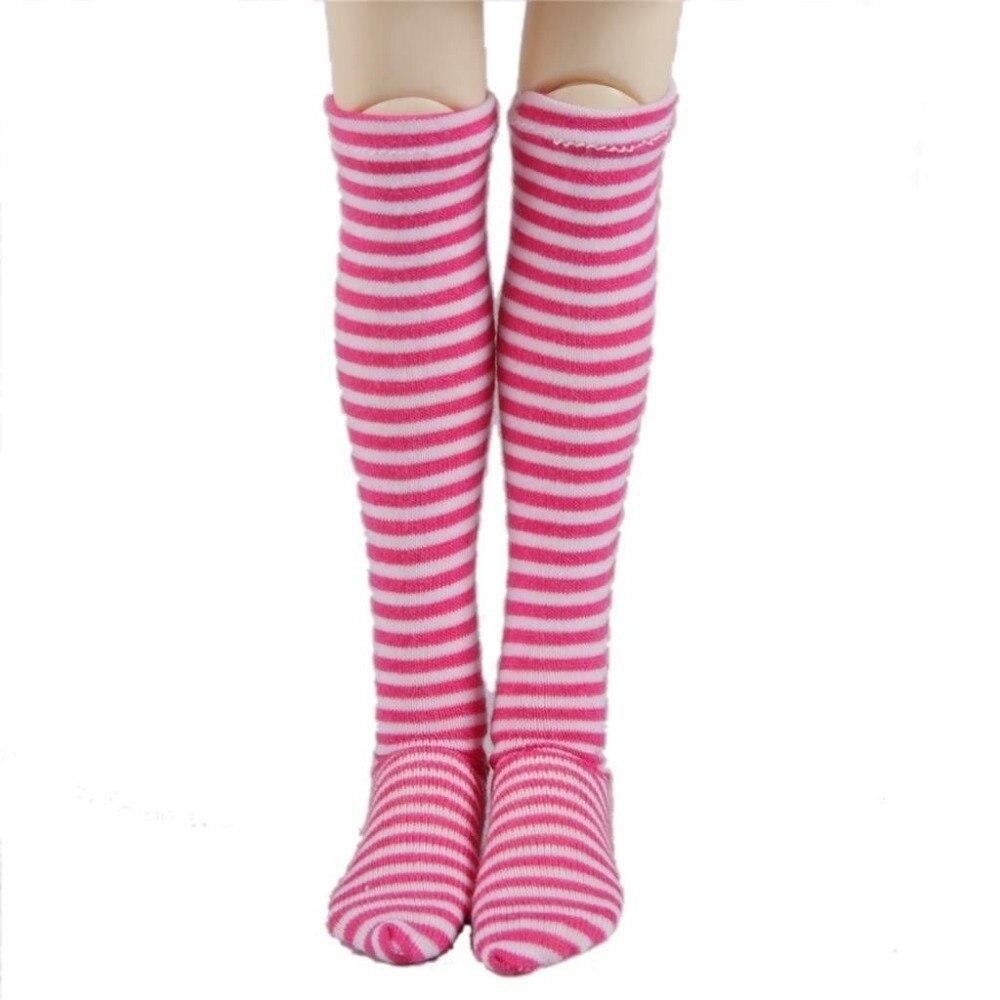 [wamami] 11# Pink Stripe Socks/Stockings 1/4 MSD DOD AOD LUTS BJD Dollfie