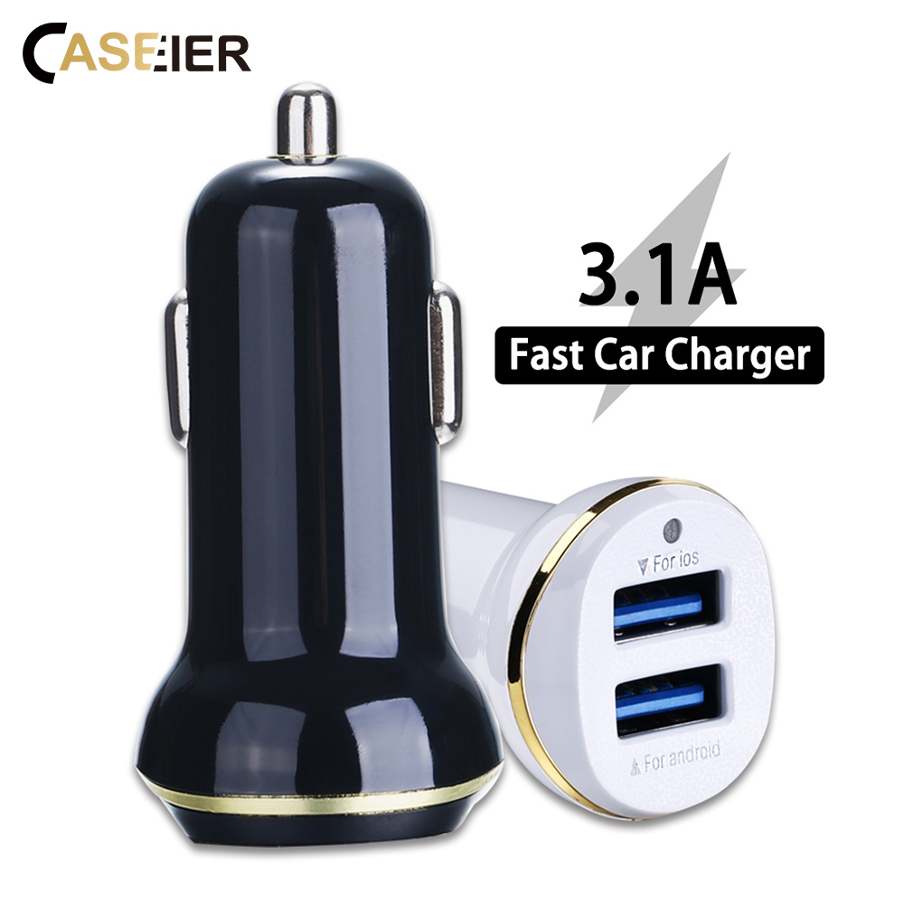 CASEIER Car-Usb-Charger Phone Huawei Samsung 2 For XS Max XR 8/7/6/.. 2-Port Fast