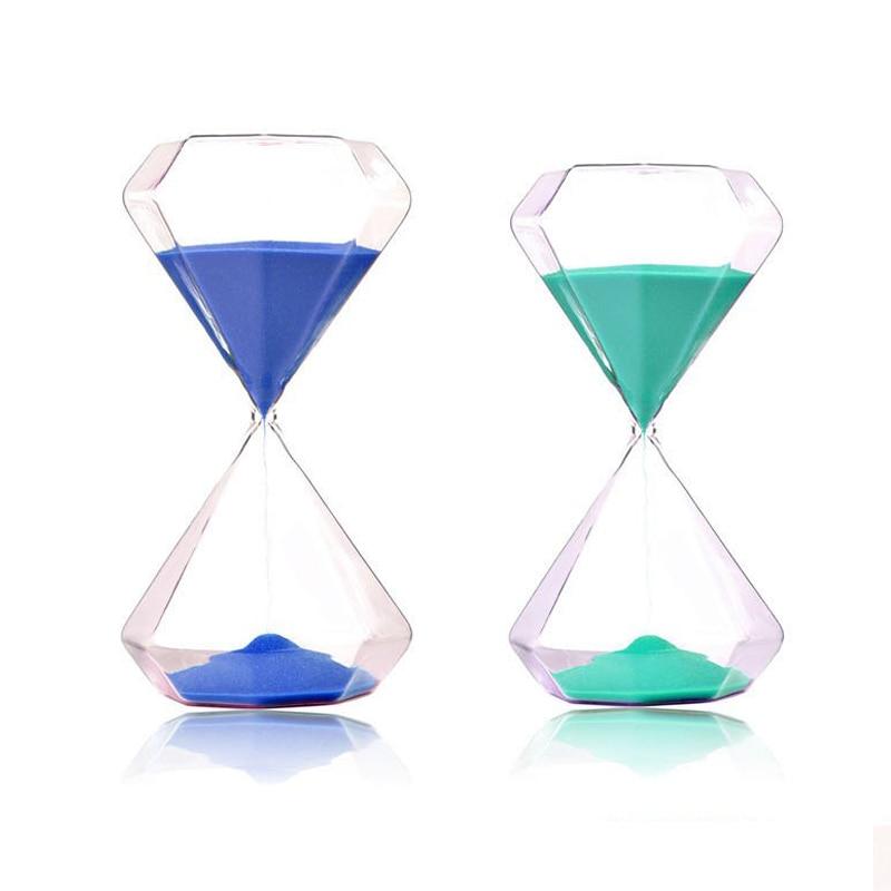 OUYUN 5 minuters färgglas timglas 6 * 6 * 11.7cm bröllop diamant - Heminredning - Foto 5