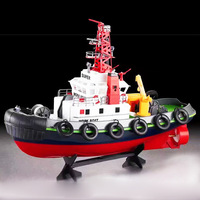 Large remote control boat American fire boat 2.4G3810 remote control boat electric toy boat with pump
