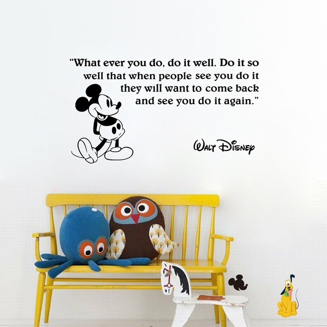 Hot Selling Cartoon Mickey Mouse Kids Room Decor Wall Stickers , Kids Mouse  Wall Quote Vinyl