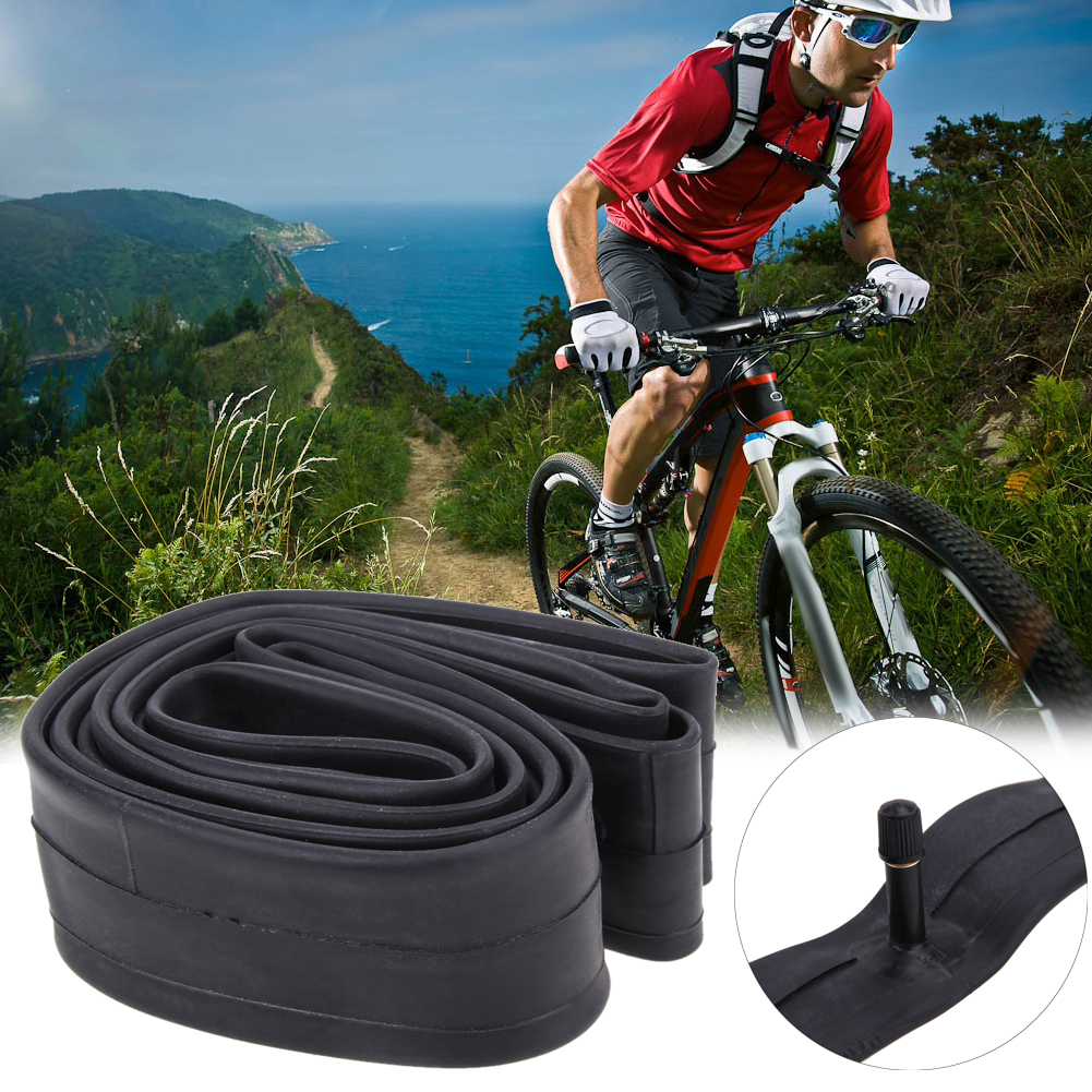 26 Inch Bicycle Tube For Road Mountain Bike Air Valve Tire Replaceable Rubber Inner Tube Bicycle Tube Tires 1.75/1.5 1.95/2.125 1 9 inch rubber tires