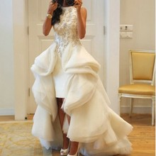 kejiadian Arabian Design White O Neck wedding Dress