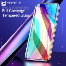 CAFELE Full Covered Tempered Glass for Huawei P30 Ultra Thin Screen Protector Scratch Proof HD Clear Film