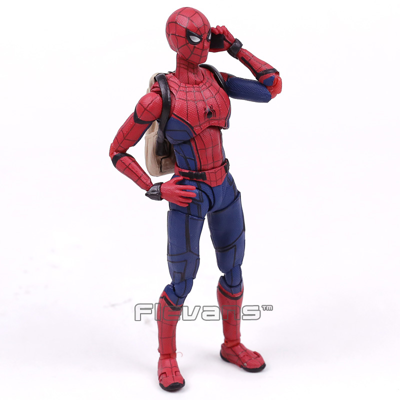 047 Spider-Man Homecoming Ver PVC Action Figure New In Box Mafex No