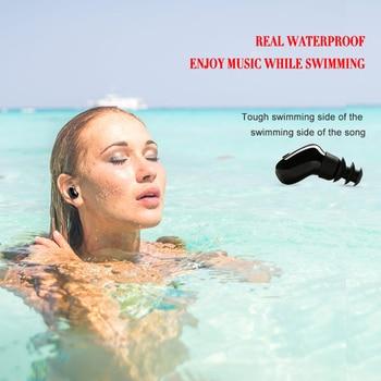 DOITOP Đa Chức Năng Mini Tai Nghe Tai Nghe 12 m Không Dây Bluetooth Tai Nghe Không Thấm Nước Bơi Ngoài Trời Thể Thao Tai Stopper In-Ear Headphone