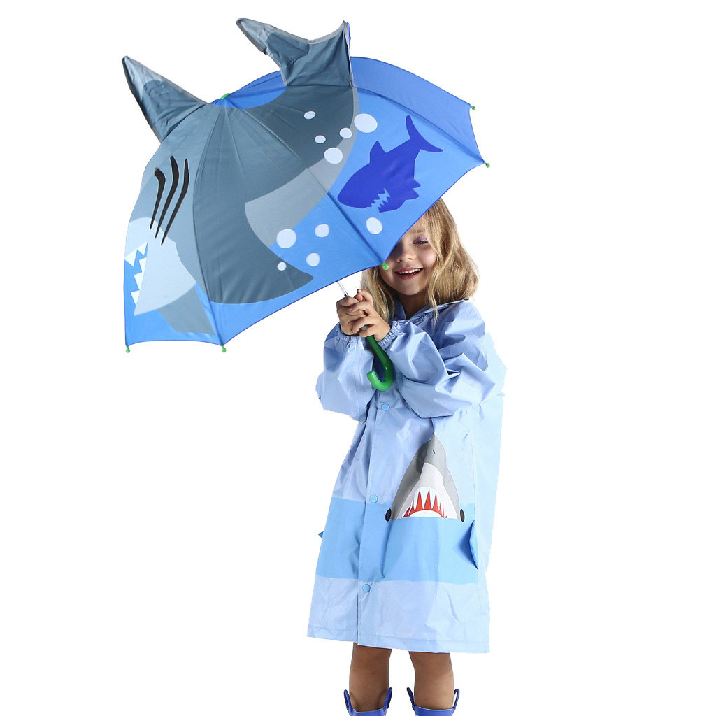Image 2 - Baby Cover Parasol For Sun Rain Protection UV Rays 3D Cartoon Outdoor Umbrella Wind Resistant Folding Umbrella Rain Windproof-in Umbrellas from Home & Garden
