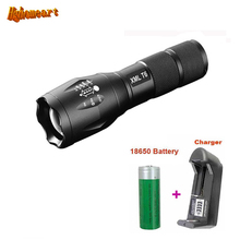 HGhomeart 5Mode XM L Zoomable Led Tactical Flashlight Rechargeable T6 3800 Lumens Waterproof LED Flashlights for