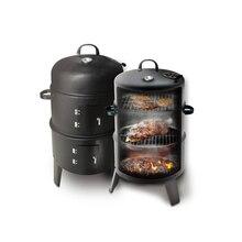 ใหม่นวัตกรรมโลหะ 3 in 1 BBQ Grill Roaster Steamer ย่างบาร์บีคิวแบบพกพา Outdoor Camping เตาถ่านย่าง