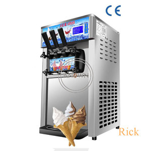 The best sale 1200W table top mini soft ice cream making vending machine 3 Flavors Ice Cream Maker with free shipping