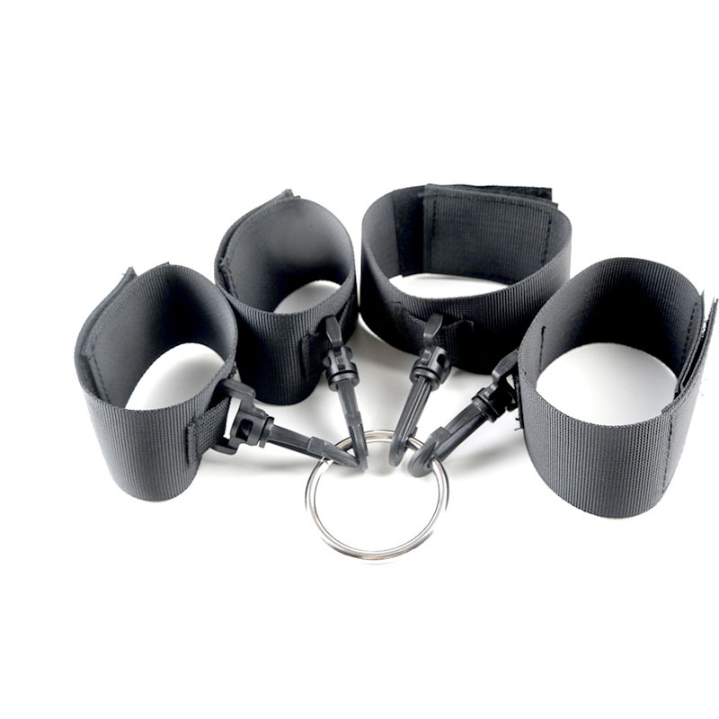 Adult Product Nylon Back Bandage Handcuffs Ankle Cuffs BDSM Bondage Set For Women Slave Restraints Sexy Props