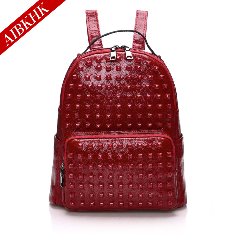 2017 New Arrival Fashion 100% Genuine Leather Female Women Backpacks Ladies Girl Natural Real Leather Student Backpack new arrival 100% excellent genuine leather laptop backpacks 7202i 1
