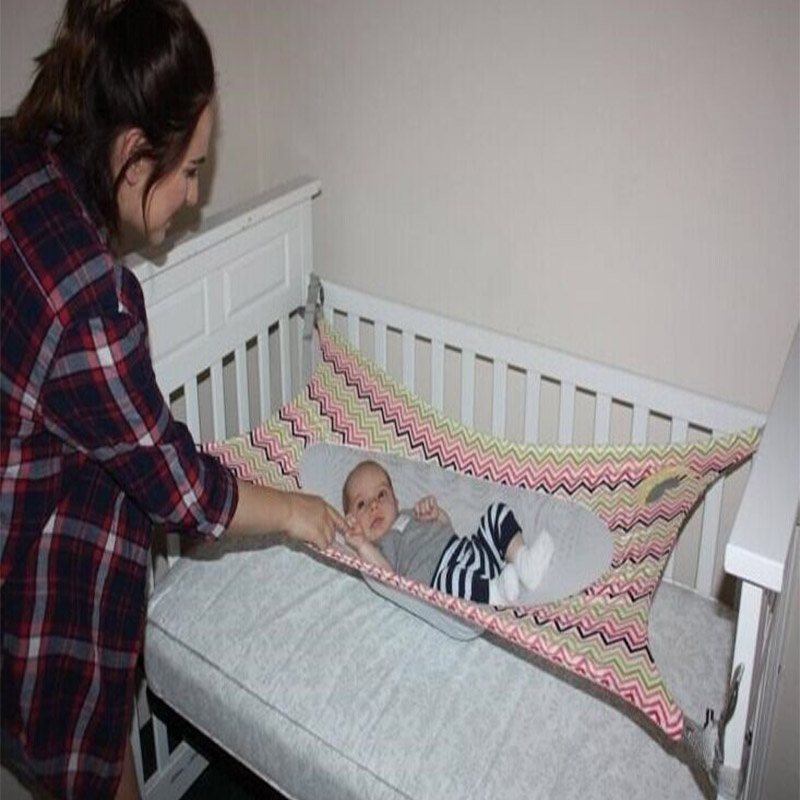 Baby Crib Hammock Portable Folding Newborn Infant Bed Elastic Detachable Baby Cot Beds Toddler Safe Photography Props FP