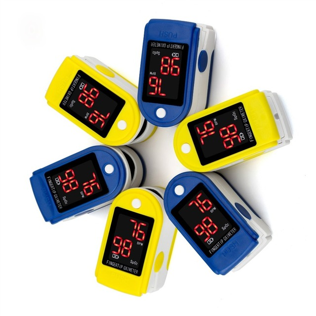Health Care Finger Pulse Oximeter Finger Saturation Monitor Pediatric Infant Blood Oxygen Digital a Portable a Hospital SPO2 BPM