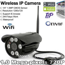 Free shipping Onvif HD Wifi IP Camera Wireless P2P Plug Play IR Cut Night Vision Waterproof
