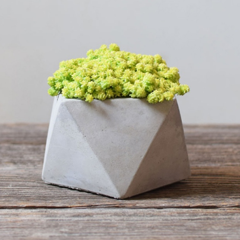 Nicole Silicone Mold for Concrete Flowerpot Mould Handmade Craft Geometric Planter Garden Bonsai Decoration Tool in Clay Molds from Home Garden