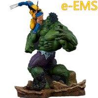 Аниме Мстители Халк против Wolverine сцены битвы статуя украшения фигурку Коллекция Модель Кукла G2364