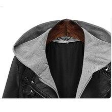 Women's Hooded Oversized Black Leather Jacket