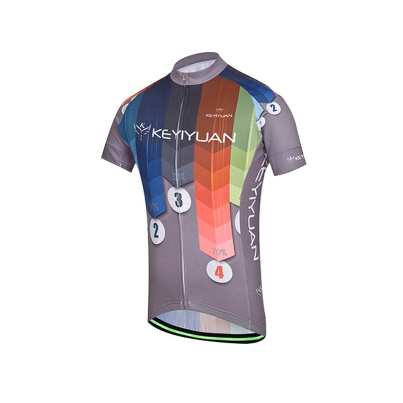 KEYIYUAN Short Sleeve Mens Summer Cycling Short Tunic Outdoor Riding Sportswear Equipment