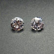 BOAKO 50 unids/pack individual/de doble cristal piedras de Zirconia AAA Cubic Zirconia piedra suelta joyería de bricolaje cuentas de piedra de circón