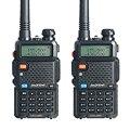 2 PCS Baofeng UV-5R Walkie Talkie 5W 128CH Dual Band Two Way Radio UHF VHF FM VOX Dual Display free headset