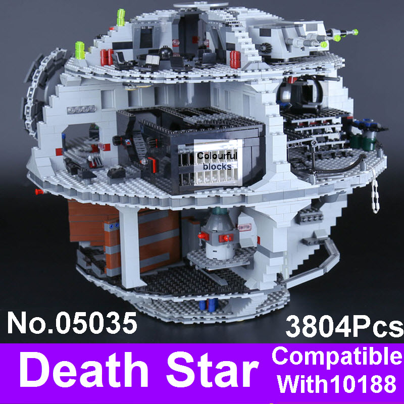 LEPIN 05035 Death 3804Pcs Star Building Wars Model Building Blocks Kits DIY Assembling Bricks Compatible 10188 Educational Toys lepin 05035 star classic model wars death 3804pcs star building block bricks toys kits compatible with 10188 to holiday gifts