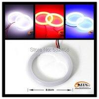 Nuovo Ad Alta Potenza Lampada Frontale Lampada ABS Mercato LED Angolo occhi Bianco Blu 80mm 8.0 cm Car Styling Daytime Luci correnti