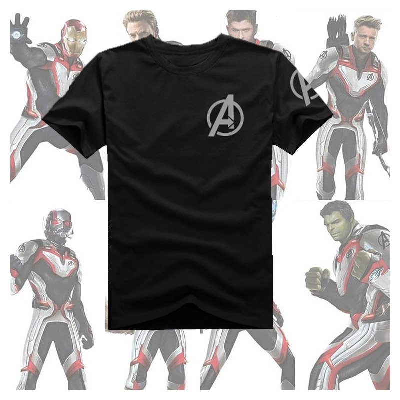 New Avengers: Endgame  T Shirt Avengers 4 Infinity War Quantum suit T-shirt Hero Cosplay Cotton Tops Tees garment bag