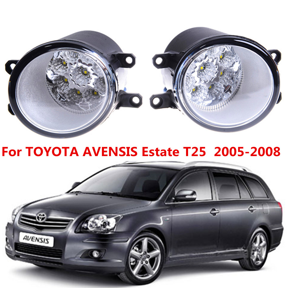 For TOYOTA AVENSIS Estate T25  2005-2008 Car styling front bumper LED fog Lights high brightness fog lamps 1set цена 2017