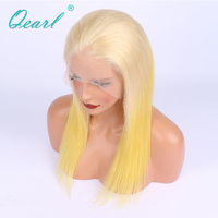 150% Density Human Hair Lace Front Wigs 13x4 Ombre Blonde Two Tone For White Women Real Hair Lace Wig Qearl