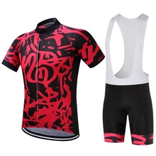 SUREA Pro Team Summer Red Mountain Bike Cycling Short Sleeve Jerseys Gel Bib Short Ropa Ciclismo Maillot Bicycle Clothes No.28