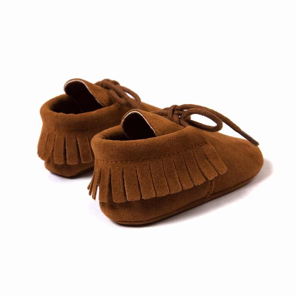 Moccasin Moccs Newborn Baby Girl Tassel Fringe Shoes Soft Soled Anti-slip Boots
