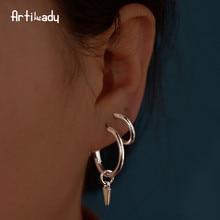 Artilady 4 pár karika fülbevaló készlet bájos medál fülbevaló minimalista ékszer ajándék a nők számára dropshipping