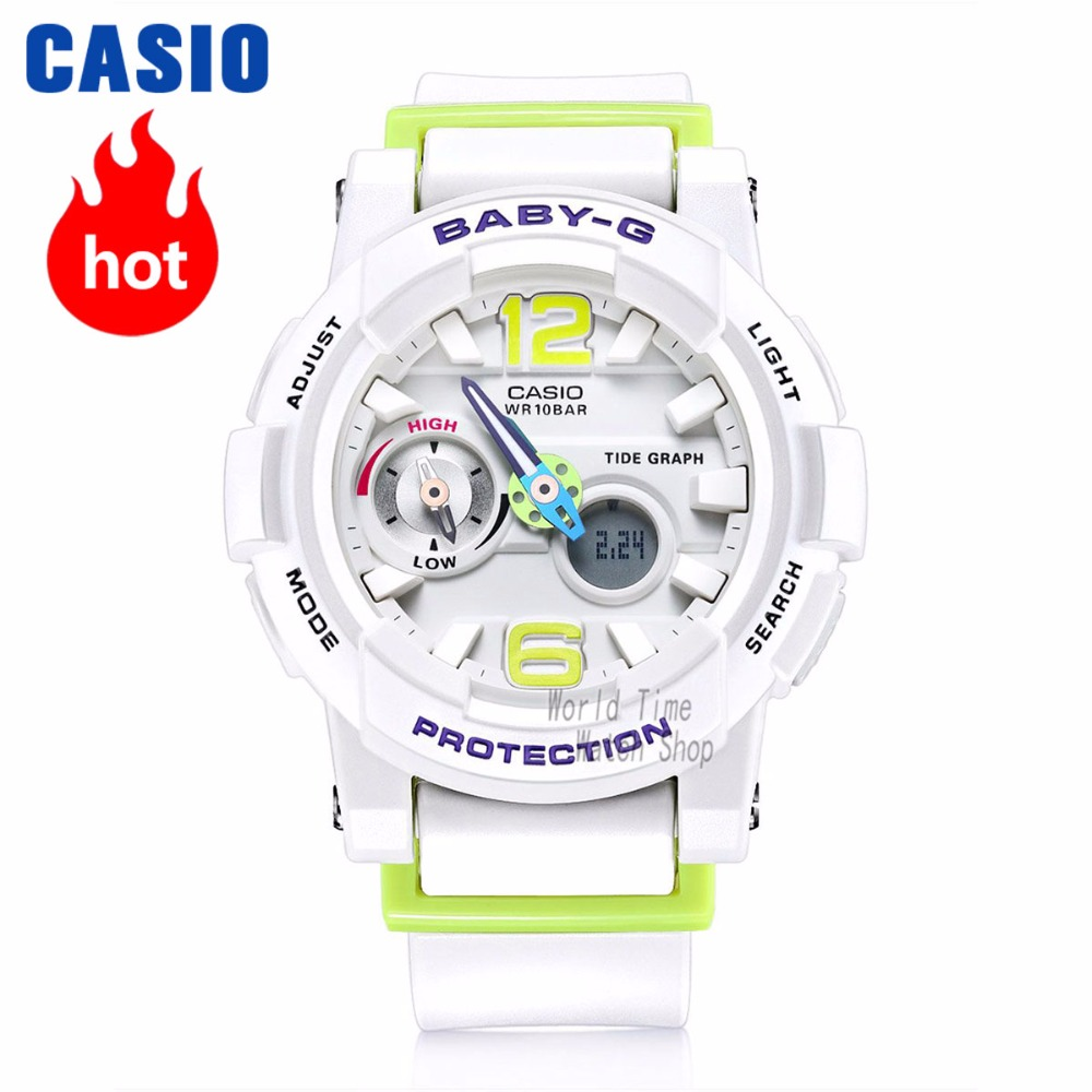 Casio uhr frauen top marke luxus set g shock 100 mt Wasserdicht surfen Sport quarzuhr LED digitale frauen uhren BABY-G tauchthermometer Flut graph armbanduhr relogio feminino reloj mujer montre kol saati zegarek damski image