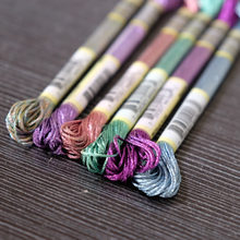 Super Deal Light Effect Floss Pack 6/Pkg Art 317W 6 Strands High Sheen Colors Metallic Embroidery Floss Cross Stitch Thread(China)