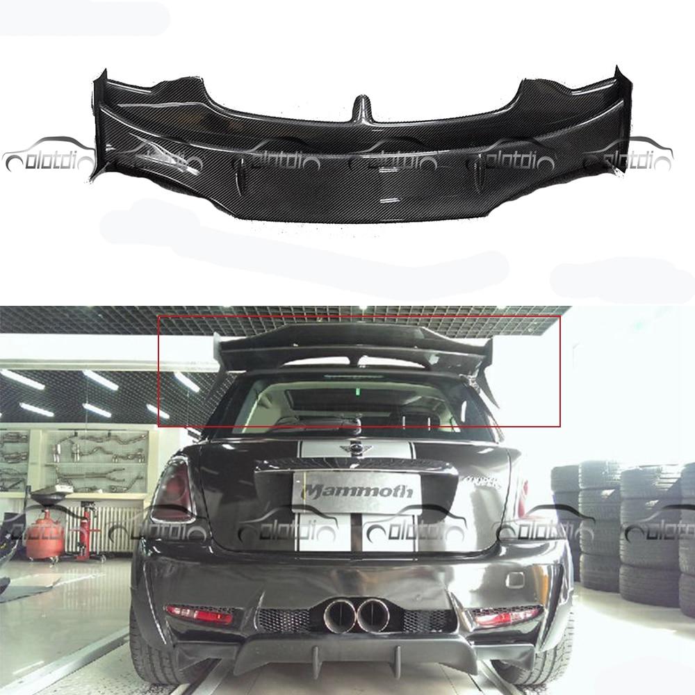 Carbon Fiber AG Style Rear Roof Wing Spoiler Mini Splitter For BMW Mini Cooper S R56 2007 2013 Car Styling