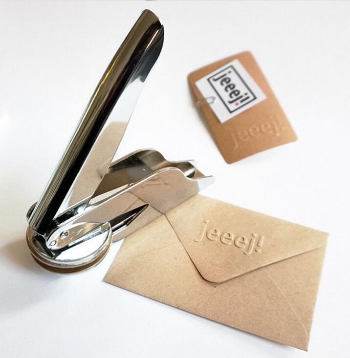 Diseña tu propio sello en relieve/sello en relieve personalizado para personalizar/sello de boda