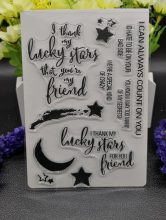Luckly star Clear Silicone Rubber Stamp for DIY scrapbooking/photo album Decorative craft A99(China)