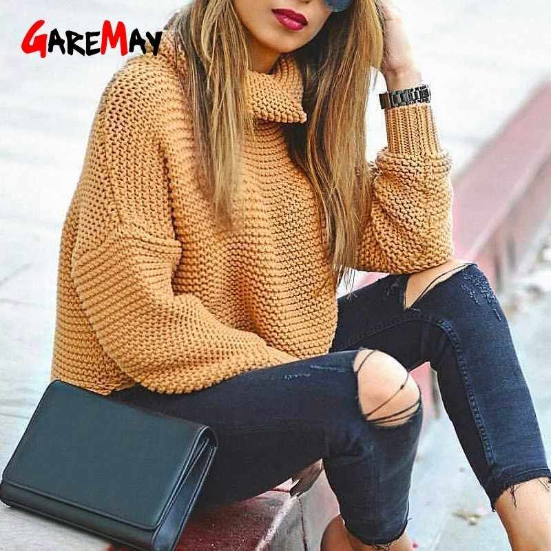 Women's Jumper Turtleneck Sweater Female Jumper For Women Warm Sweater Coarse Pullover Thick Winter Knitted Oversized Sweater