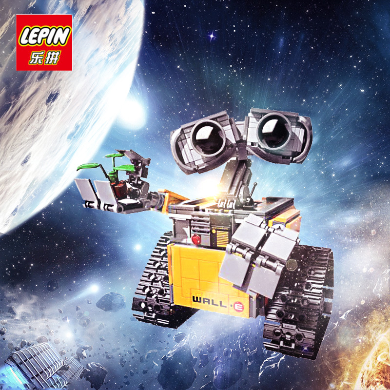 Lepin Building Blocks Model 16003 Compatible with lego IDEA WALL E 21303 Robot Figure Educational Toy for Children for Boy Girl 16003 lepin idea wall e robot model