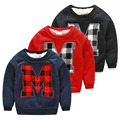 new winter south Korean style 2016 letter M male children's wear children more add wool fleece jacket  boy's T-shirt wt-4377