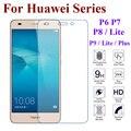 Prima de cristal templado para huawei honor 4c 4x 5c v8 6 7 8 p6 p7 p8 caso película a prueba de explosiones protector de pantalla para huawei p8 lite