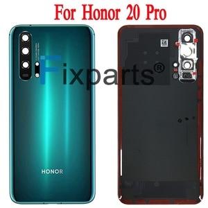 Image 3 - Huawei Honor 20 Pro 배터리 커버 도어 백 하우징 후방 케이스 명예 20 배터리 커버 도어 교체 부품