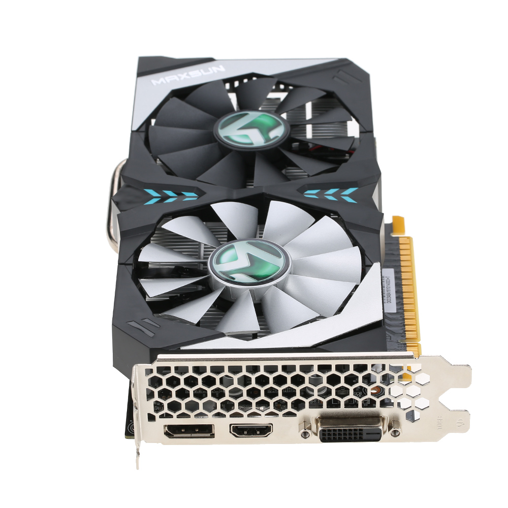 MAXSUN GetForce GTX 1050Ti Terminator Video Graphics Card 7000MHz 4G/128bit GDDR5 PCI-E 3.0 X16 HDMI+DP+DVI Port 2 Cooling Fans