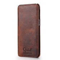 Luxury Brand TIMECAT Genuine Leather Case For Samsung Galaxy S8 Flip Cover Phone Bag New Design