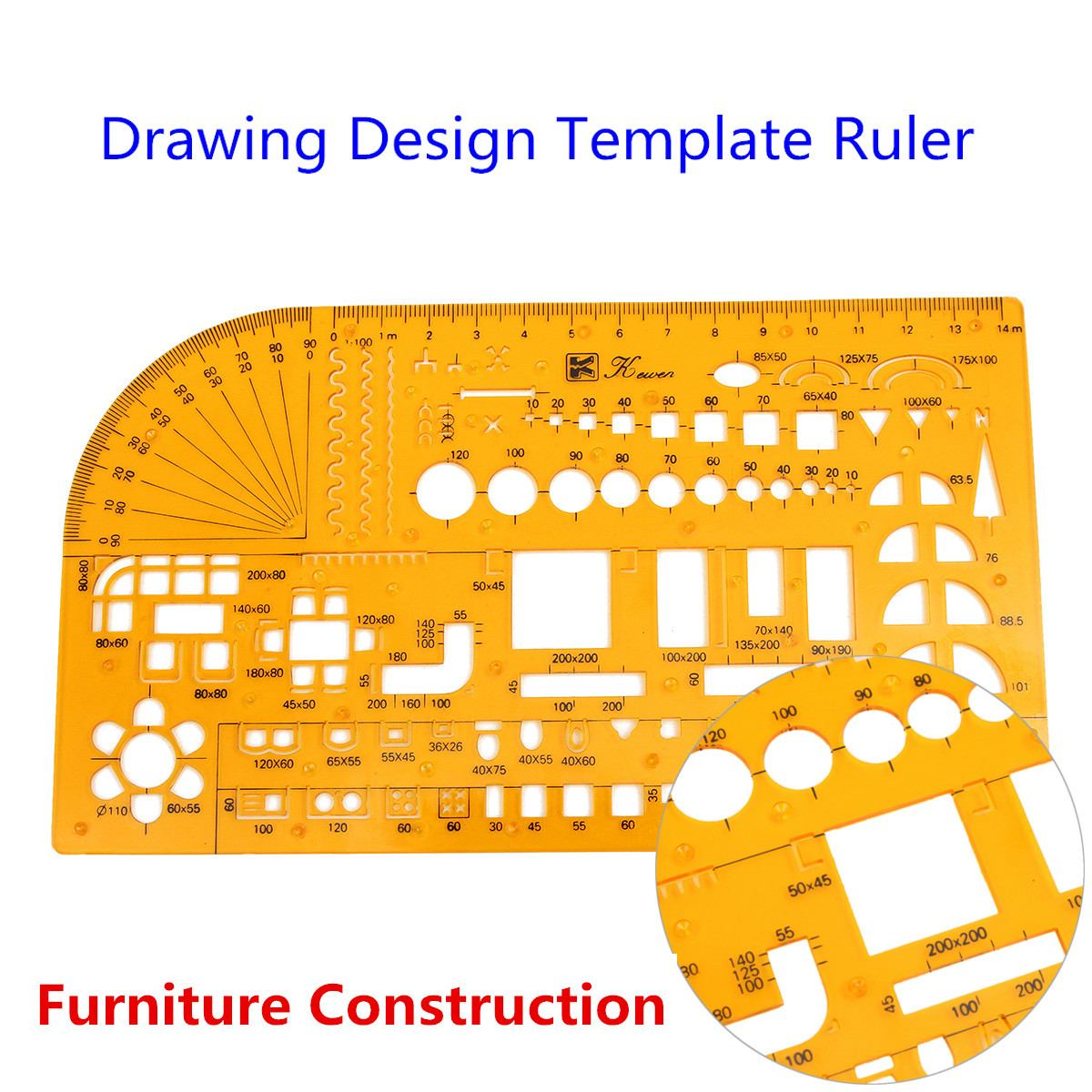 Professional  Furniture Construction Architect Drawing Template Ruler 1:100 Office & School Supplies Model Ruler Scale