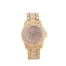 Luxury brand watch Women fashion rhinestones analog stainless steel band quartz ladies wristwatch, Felogio Feminino watch