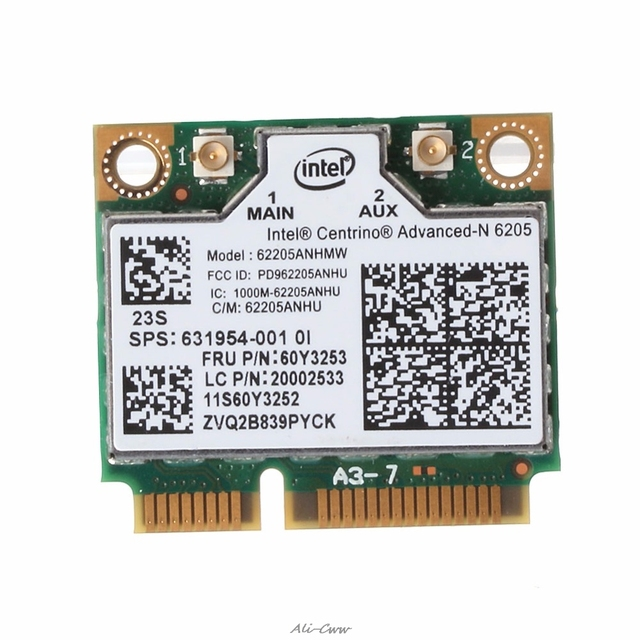 US $3 92 12% OFF|2018 New Intel Dual Band Wireless AC wifi Card for Lenovo  Thinkpad X230 T430 60Y3253-in Network Cards from Computer & Office on