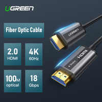 UGREEN HDMI 2.0 Cable 4K 60Hz Fiber Optic HDMI Cable 2.0 HDR for HD TV Box Projector PS4 Cable HDMI 10m 30m 50m 100m HDMI Cable