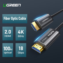 UGREEN HDMI 2.0 Cable 4K 60Hz Fiber Optic HDMI Cable 2.0 HDR for HD TV Box Projector PS4 Cable HDMI 10m 30m 50m 100m HDMI Cable(China)